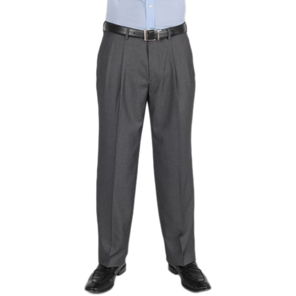 Dockers essentials mens cross hatch pleated straight fit med grey pant 539e027f b15b 499b 8e99 03d25e3e04b7 600