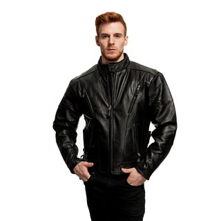 Men's Cowhide Motorcycle Jacket