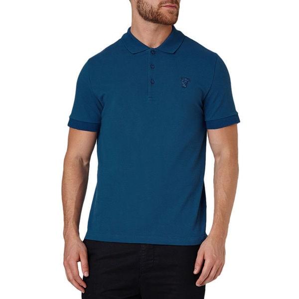 Versace Collection Men's Blue Cotton Short Sleeve Polo T-Shirt