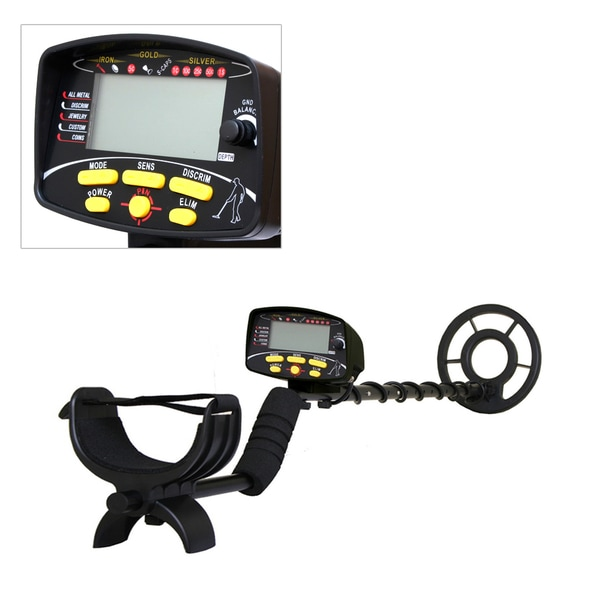 PHMD72 Metal Detector Waterproof Search Coil Pin-Point Detect Adjustable Sensitivity Headphone Jack Digital LCD Display
