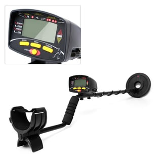 Pyle PHMD68 Metal Detector Waterproof Search Coil Pin-Point Detect Adjustable Sensitivity Headphone Jack Digital LCD Display