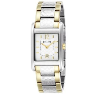Coach Women's 14501451 Carlisle Square Two-tone Stainless Steel Bracelet Watch