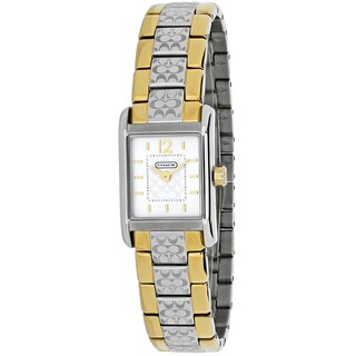 Coach Women's 14501491 Carlisle Mini Square Two-tone Stainless Steel Bracelet Watch