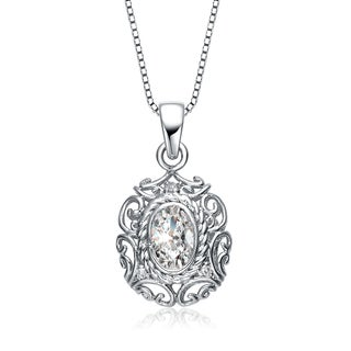 Collette Z Sterling Silver Cubic Zirconia Vintage Necklace