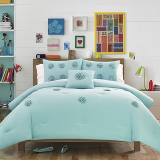 Teen Vogue Monica Blue Aqua 3-piece Comforter Set
