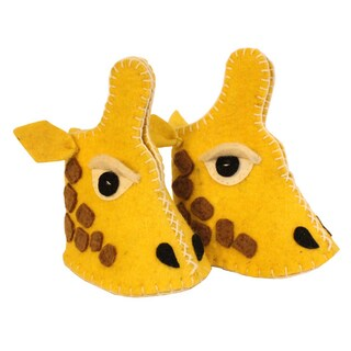 Kid's Giraffe Wool Zooties (Kyrgyzstan)