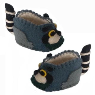 Kid's Raccoon Wool Zooties (Kyrgyzstan)