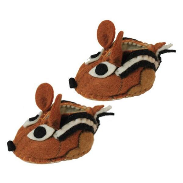 Kid's Chipmunk Wool Zooties (Kyrgyzstan)