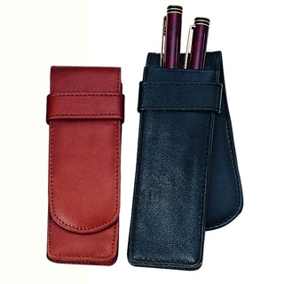 Royce Leather 2-slot Double Fountain Pen Case