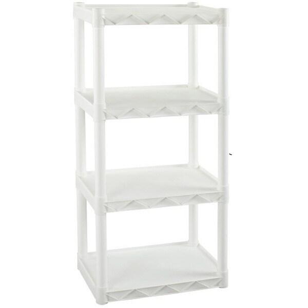 Plano Molding 4 Shelf Shelving Unit 22-inchx14.25-inch White