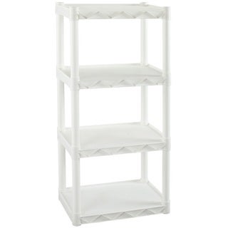 Plano Molding 4 Shelf Shelving Unit 22-inchx14-inch White