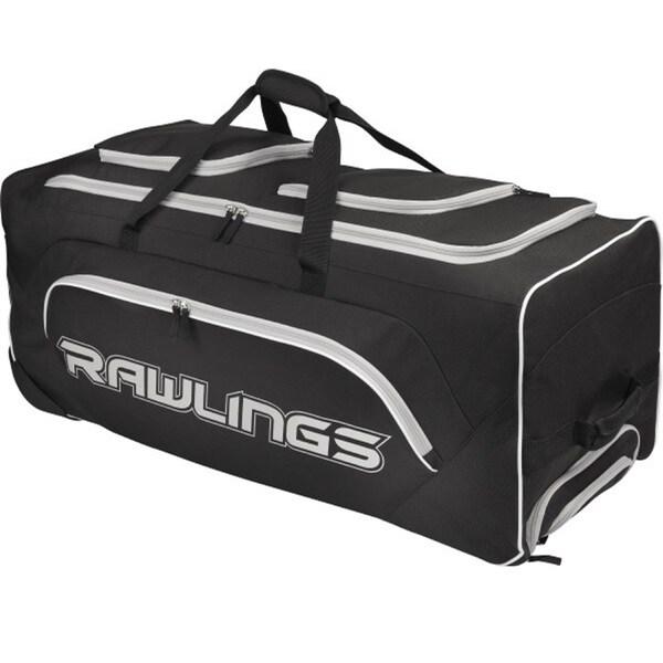 Rawlings Wheeled Catcher's Bag Black
