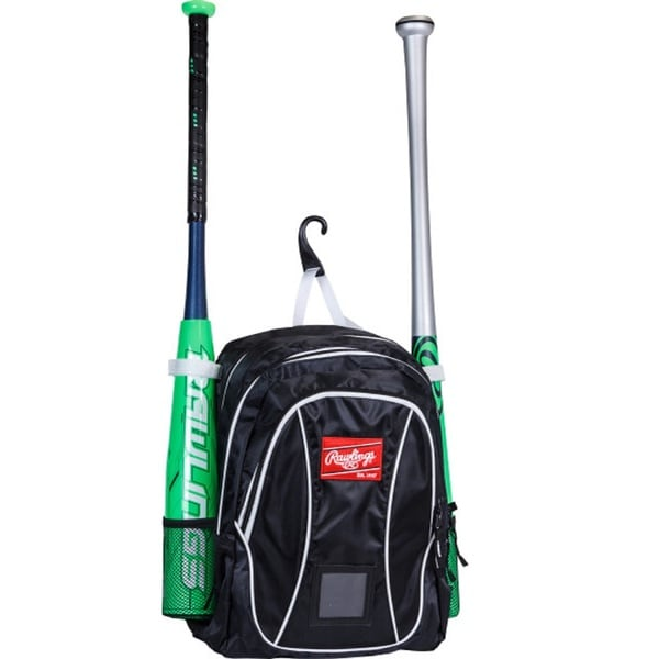 Rawlings Baseball Youth Backpack Black/ White