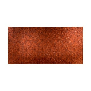 Fasade Audrey Moonstone Copper 4-foot x 8-foot Wall Panel