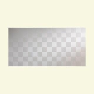 Fasade Quattro Matte White Wall Panel (4' x 8')