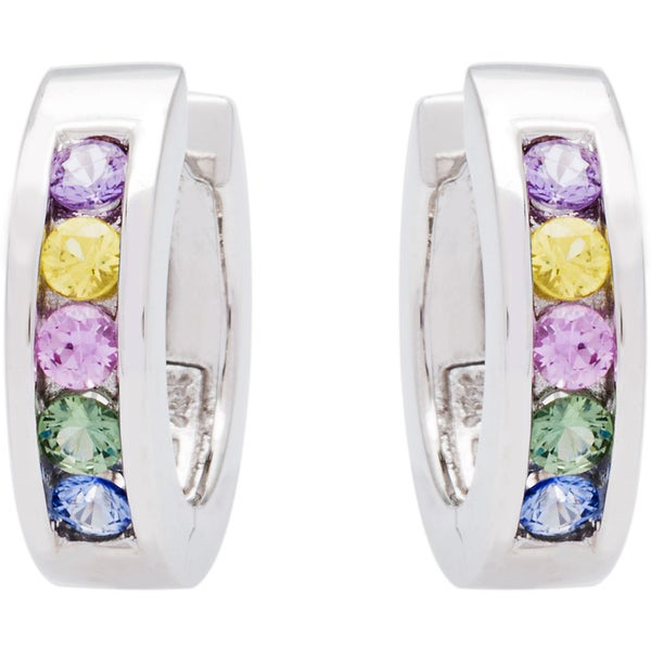 EFFY Final Call 14k White Gold Multi-color Sapphire Earrings