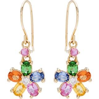 EFFY Final Call 14k Yellow Gold Diamond Accent Multi-Gemstone Earrings