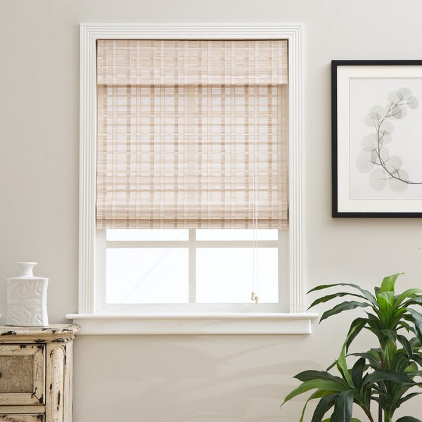 Arlo Blinds Oriental Whitewash Bamboo Blinds (As Is Item)