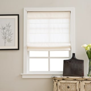 Arlo Blinds Ivory Light Filtering Cordless Lift Fabric Roman Shades