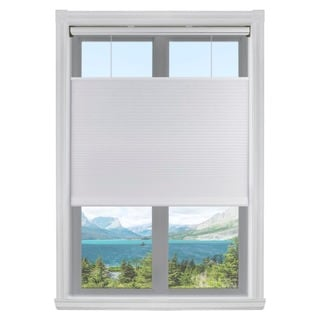 White Top-down/ Bottom-up 3/8-inch Single Cordless Cellular Light Filtering Shades