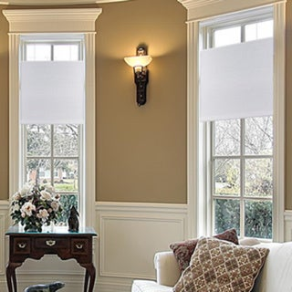 White Top-down/ Bottom-up 3/8-inch Single Cordless Cellular Light Filtering Shades (35 x 60) (As Is Item)