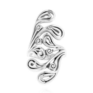 Modernist Style Filigree Swirl .925 Sterling Silver Ring (Thailand)
