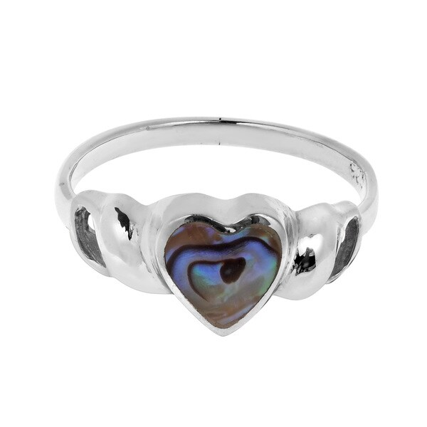 Sweet Heart Abalone Shell Sterling Silver Ring (Thailand) 16183480