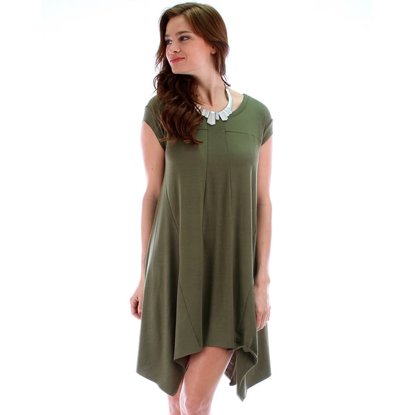 Raw Edge Over-Sized T-Shirt Dress