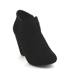Rosa-1 Liliana Women's Cone Heel Side Zipper Ankle Booties