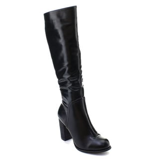 DBDK Women's Side Zip Knee High Riding Boots