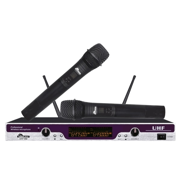 IDOLpro UHF-300 Professional Karaoke Vocal Dual Wireless Microphone System