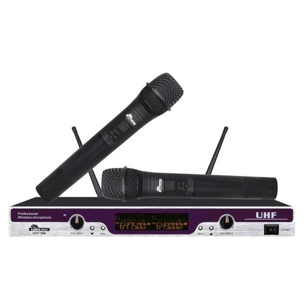 IDOLpro UHF-300 Professional Karaoke Vocal Dual Wireless Microphone System