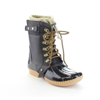 CAPE ROBBIN MURIEL-BC-7 Women's Lace Up Buckle Accents Mid-Calf Boots