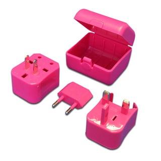 MaximalPower Pink Universal Travel Power Outlet Adapter