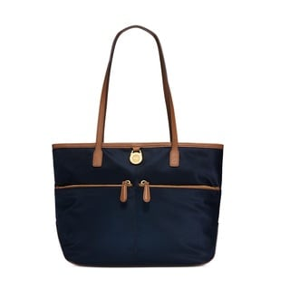 Michael Kors Kempton Medium Navy Pocket Nylon Tote Handbag