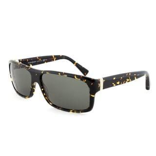 Yves Saint Laurent YSL 2309/S IL585 Rectangular Sunglasses, Dark Havana Frame, Green Lens