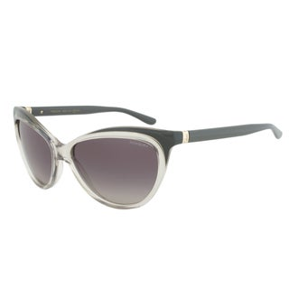 Yves Saint Laurent YSL 6358/S EHFDX Cateye Sunglasses with a Grey Transparent Frame and Grey Gradient Lens