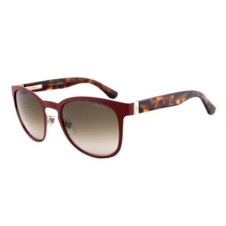 Yves Saint Laurent YSL 2351/S 7H7HA Wayfarer Sunglasses, Bordeaux/Havana Frame, Brown Gradient Lens