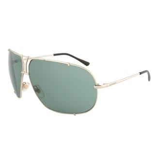 Yves Saint Laurent YSL 2335S 3YGD5 Aviator Sunglasses with a Gold Frame and Green Lens