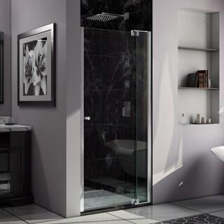 DreamLine Allure 33 to 34 in. Frameless Pivot Shower Door, Clear Glass Door in Chrome Finish