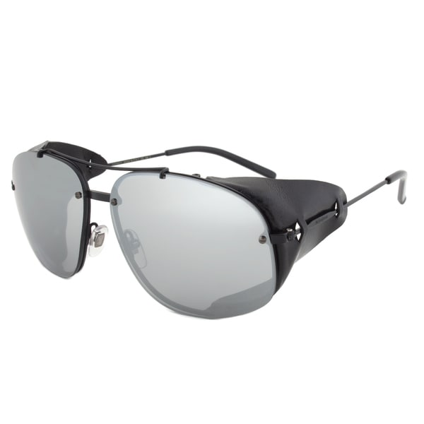 Yves Saint Laurent YSL 2338S PDE3R Aviator Sunglasses with a Black Frame and Grey Mirrored Lens