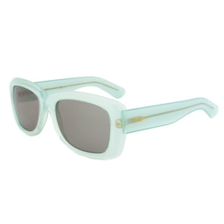 Yves Saint Laurent YSL 2320/S IVU5L Rectangular Sunglasses with a Lake Green Frame and Grey Lens
