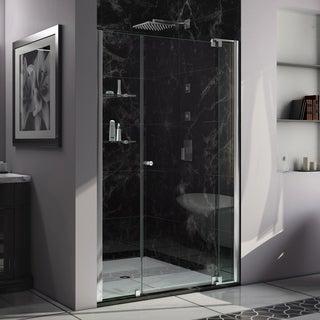 DreamLine Allure 45 to 46 in. Frameless Pivot Shower Door, Clear Glass Door in Chrome Finish