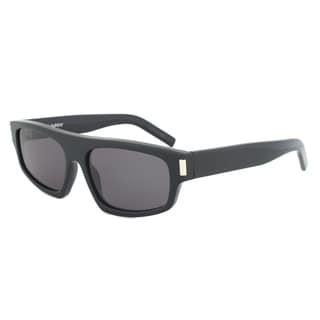 Saint Laurent Paris SL 36 807/BN Rectangular Sunglasses with a Black Frame and Dark Grey Lens