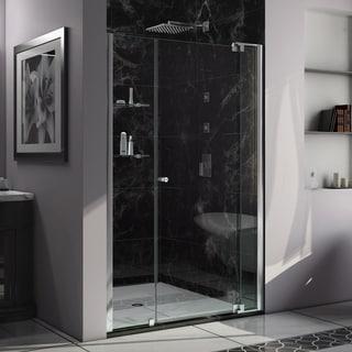 DreamLine Allure 49 to 50 in. Frameless Pivot Shower Door, Clear Glass Door in Chrome Finish