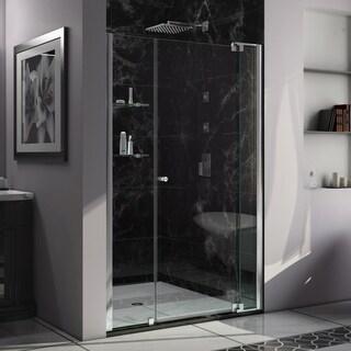 DreamLine Allure 50 to 51 in. Frameless Pivot Shower Door, Clear Glass Door in Chrome Finish