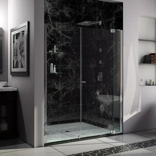 DreamLine Allure 56 to 57 in. Frameless Pivot Shower Door, Clear Glass Door in Chrome Finish