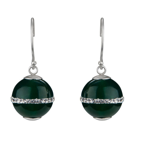 Genuine Green Stone Drop Earrings