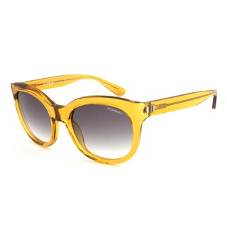 Yves Saint Laurent YSL 6379/S HSFBB Cateye Sunglasses with a Dark Yellow Transparent Frame and Grey Gradient Lens