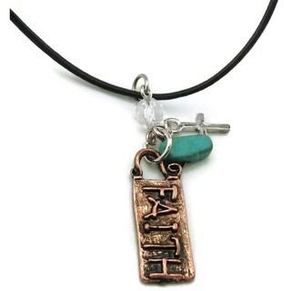 Mama Designs Handmade Faith Copper Charm Necklace
